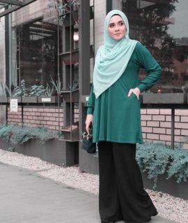 Papillon Blouse Emerald Green