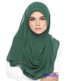 2Loops Bawal Chiffon | Emerald Green