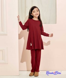 LILLY KIDS SET | MAROON