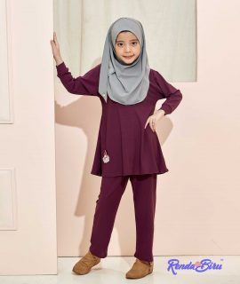 LILLY KIDS SET | DARK PURPLE